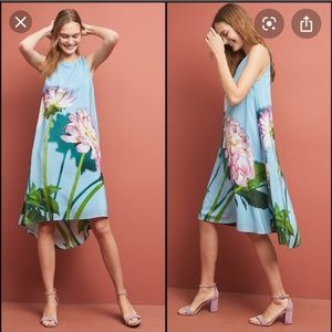NWT Anthropologie Photorealistic silk dress